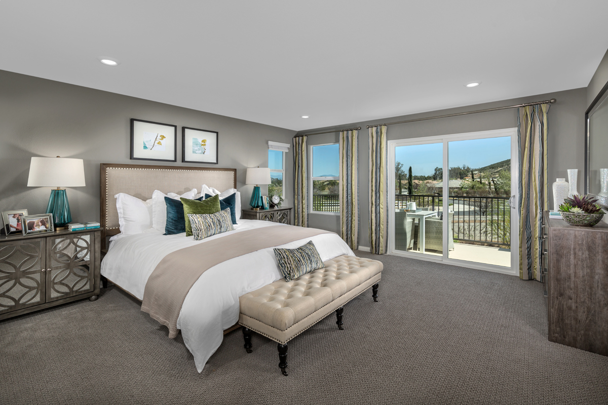 New Homes in Menifee, CA - Peppertree at Hidden Hills Residence 2925 - Master Bedroom
