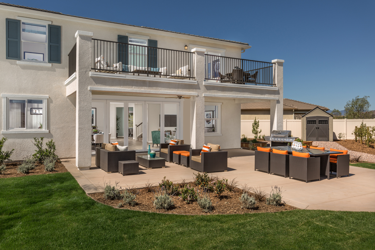 New Homes in Menifee, CA - Peppertree at Hidden Hills Residence 2544 - Patio