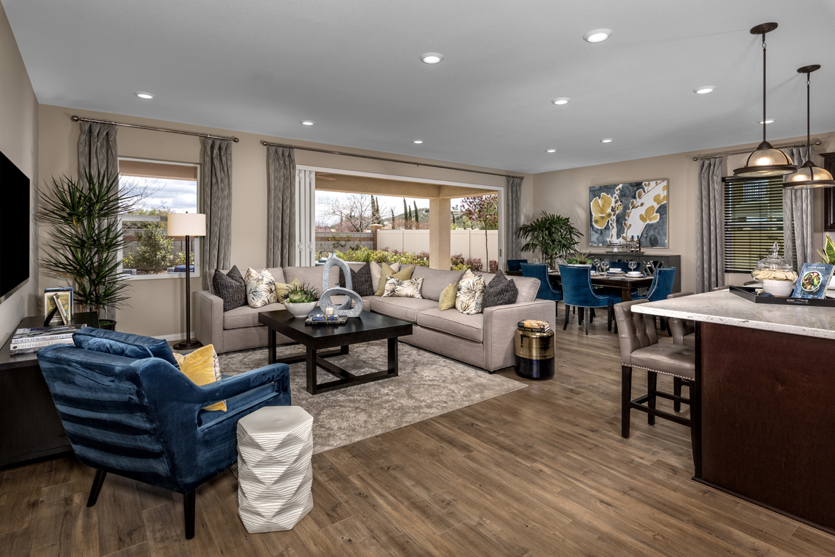 New Homes in Menifee, CA - Peppertree at Hidden Hills Residence 2773 - Great Room
