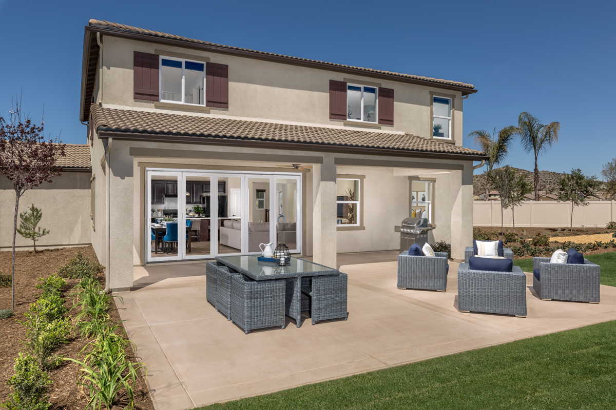 New Homes in Menifee, CA - Peppertree at Hidden Hills Residence 2773 - Patio
