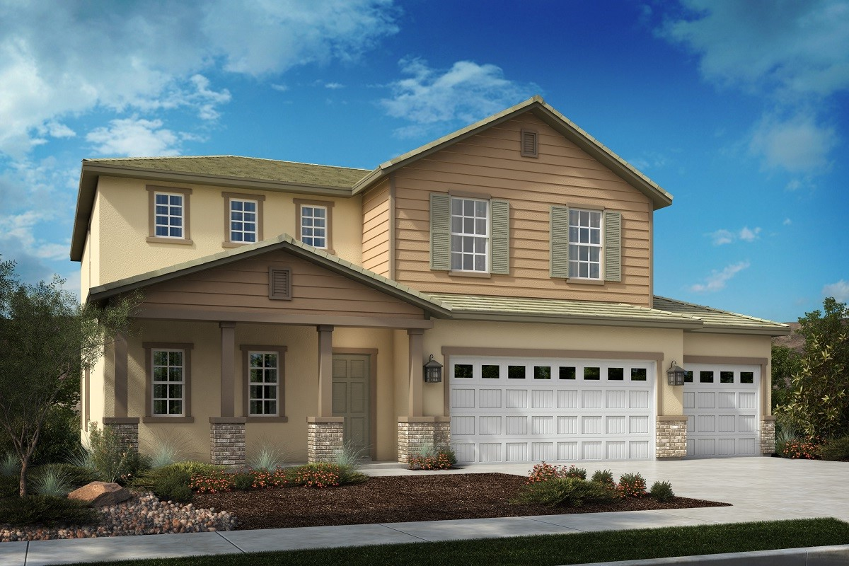 New Homes in Menifee, CA - Traditional 'C' 3-car garage