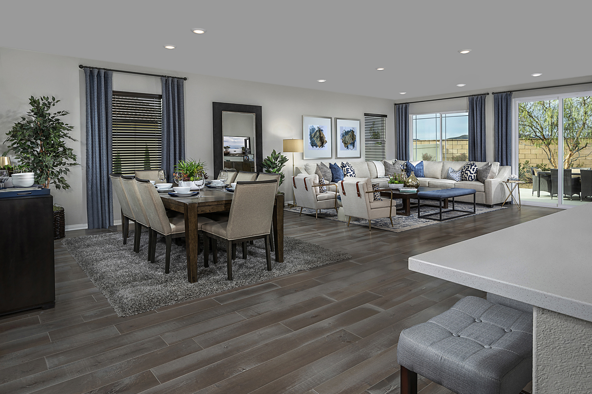 New Homes in Menifee, CA - Salerno at Shadow Mountain Residence Three - Great Room