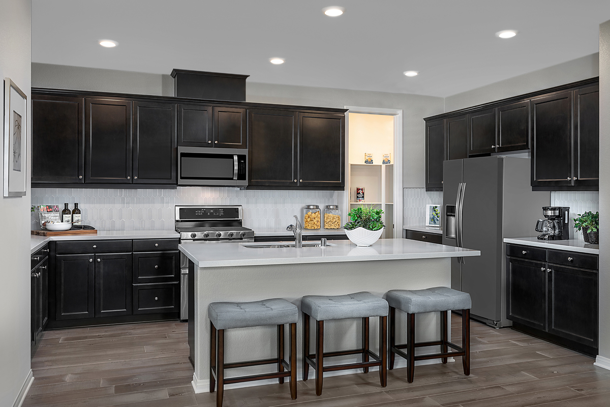 New Homes in Menifee, CA - Salerno at Shadow Mountain Residence Three - Kitchen