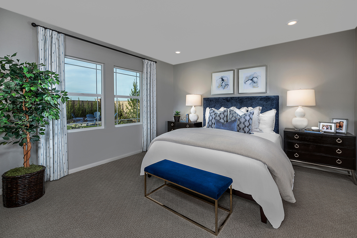 New Homes in Menifee, CA - Salerno at Shadow Mountain Residence Three - Master Bedroom