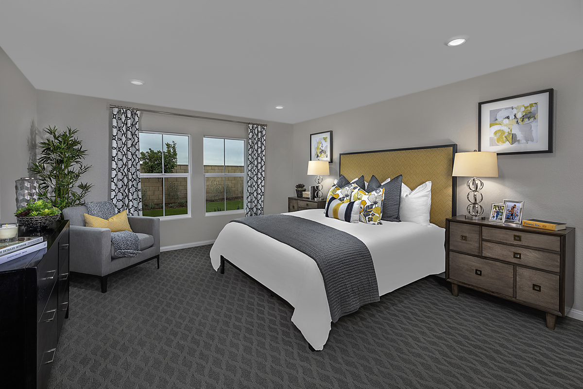 New Homes in Menifee, CA - Salerno at Shadow Mountain Residence Two - Master Bedroom