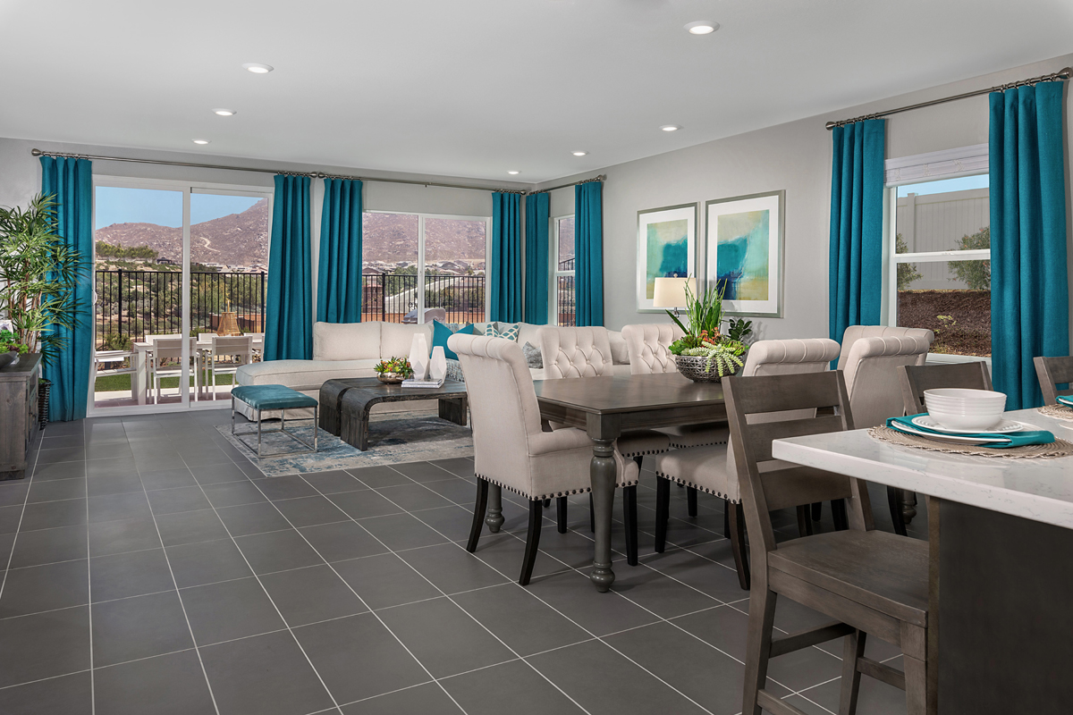 New Homes in Riverside, CA - Santa Barbara at Spring Mountain Ranch Residence Thirteen - Great Room