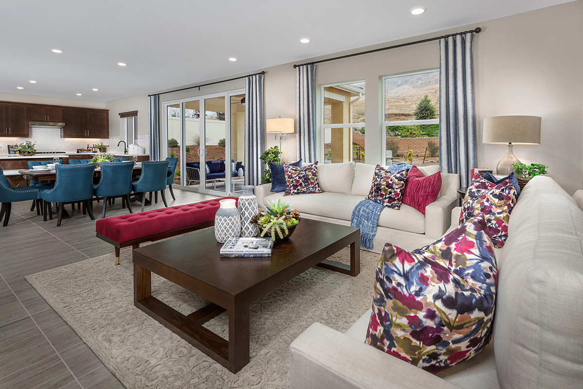 New Homes in Riverside, CA - Santa Barbara at Spring Mountain Ranch Residence Fourteen - Great Room