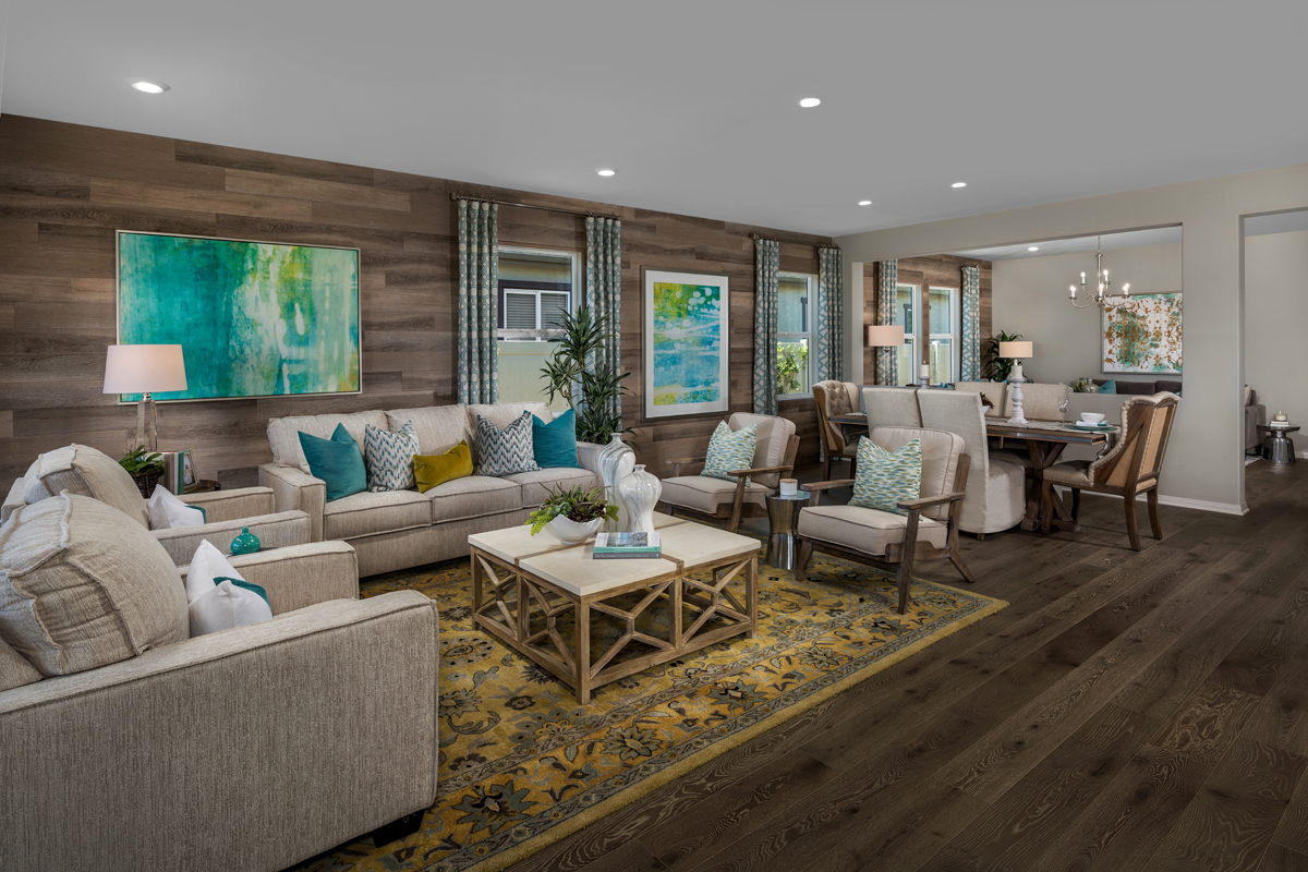 New Homes in Murrieta, CA - Santolina at Spencer's Crossing Residence 2358 Great Room