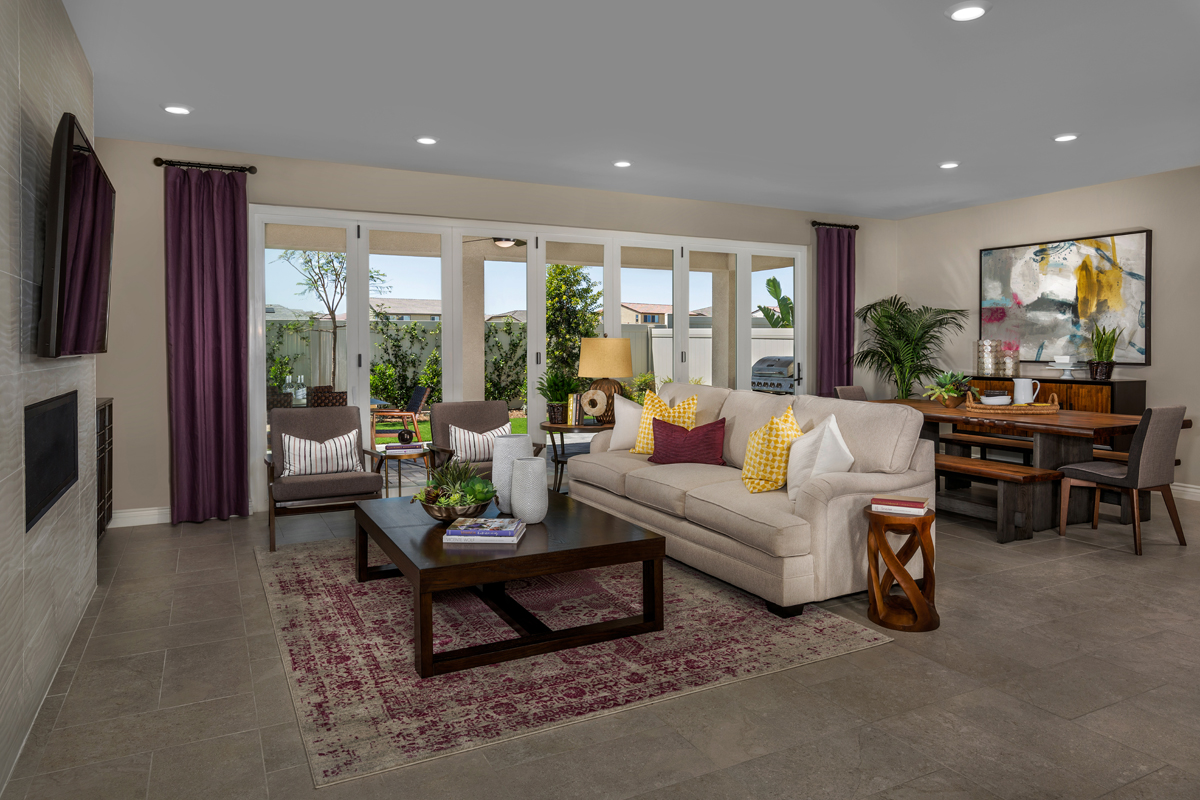 New Homes in Murrieta, CA - Santolina at Spencer's Crossing Residence 2708 Great Room