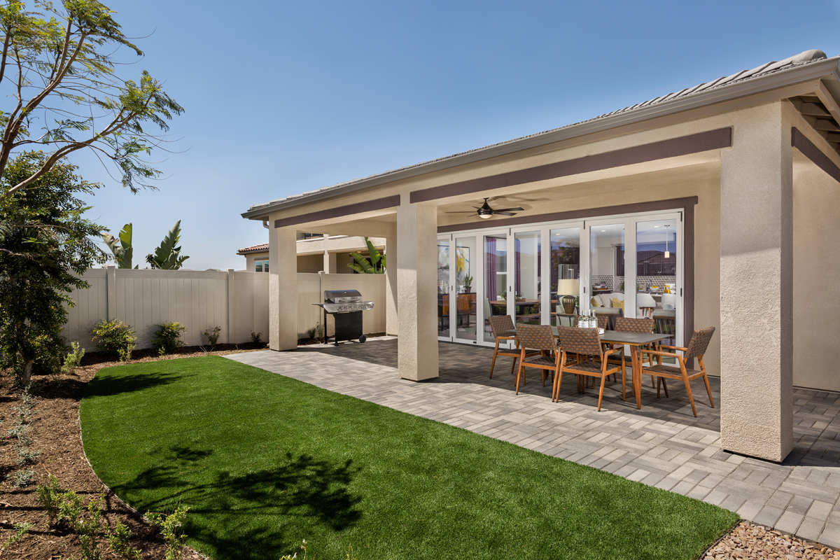 New Homes in Murrieta, CA - Santolina at Spencer's Crossing Residence 2708 Patio