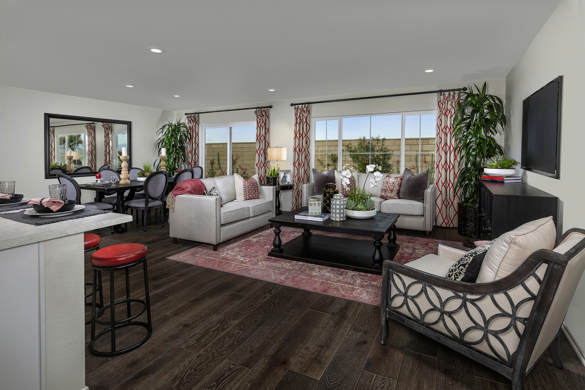 New Homes in South Perris, CA - Stonecreek at Green Valley Ranch Residence 1853 - Great Room