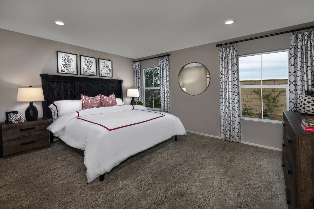 New Homes in South Perris, CA - Stonecreek at Green Valley Ranch Residence 1853 - Master Bedroom