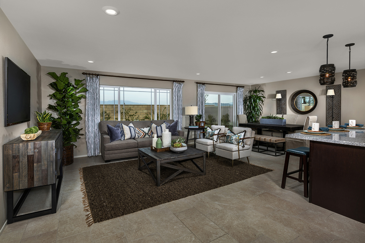New Homes in South Perris, CA - Stonecreek at Green Valley Ranch Residence 2461 - Great Room