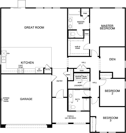 New Homes in San Jacinto, CA - Residence Two, First Floor