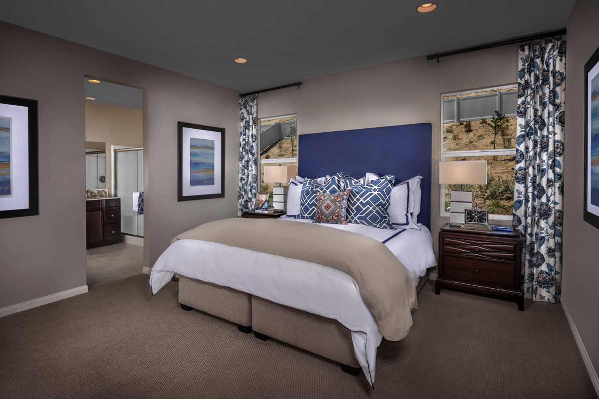 New Homes in San Jacinto, CA - Stonecrest at The Cove Residence Two - Master Bedroom