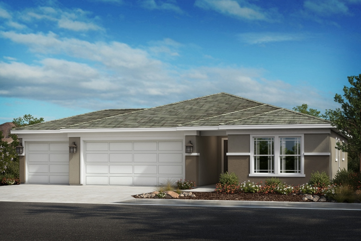 New Homes in Wildomar, CA - Transitional Prairie 'A' - Opt. Enlarged Garage
