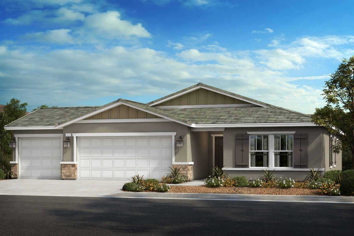 New Homes in Wildomar, CA - Bungalow 'B' - Opt. Enlarged Garage
