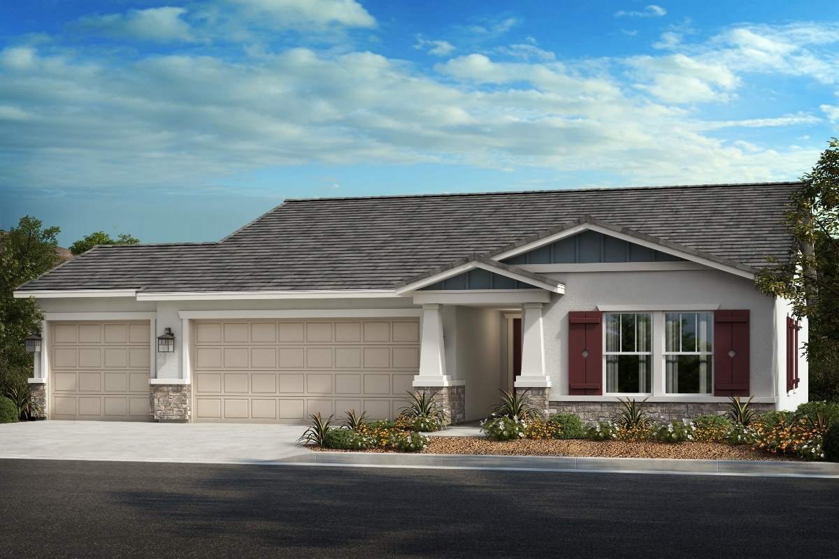 New Homes in Wildomar, CA - Elevation B - Opt. Enlarged Garage