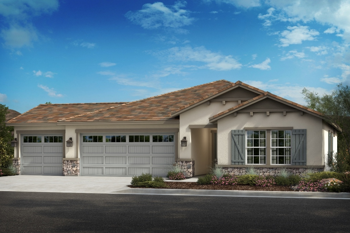 New Homes in Wildomar, CA - Elevation C - Opt. Enlarged Garage