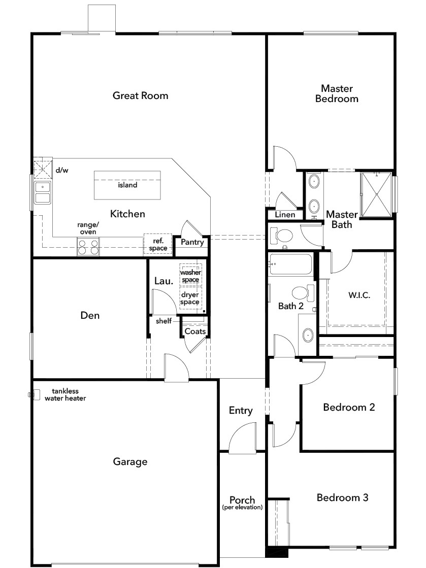 New Homes in Wildomar, CA - Residence Three, First Floor