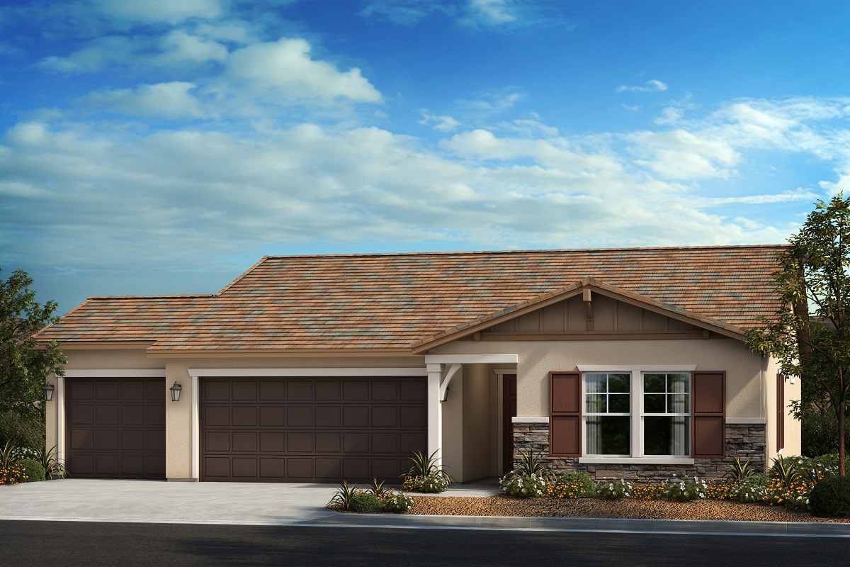 New Homes in Menifee, CA - Ranch 'B' - Opt. Enlarged Garage