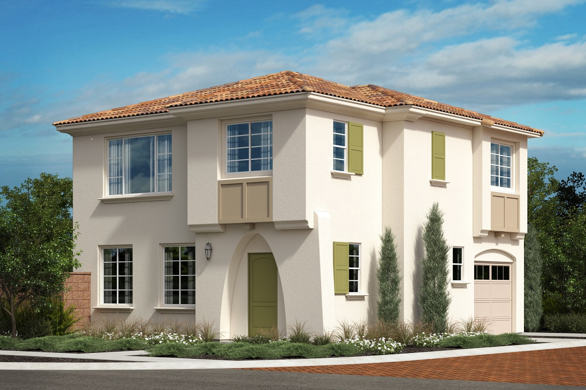 New Homes in North Fontana, CA - The Courts at El Paseo Residence Four - Santa Barbara 'A'