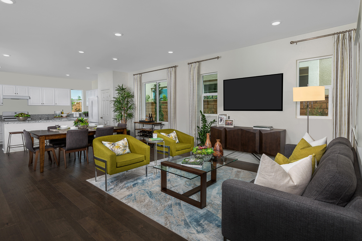 New Homes in North Fontana, CA - The Courts at El Paseo Residence Two - Great Room