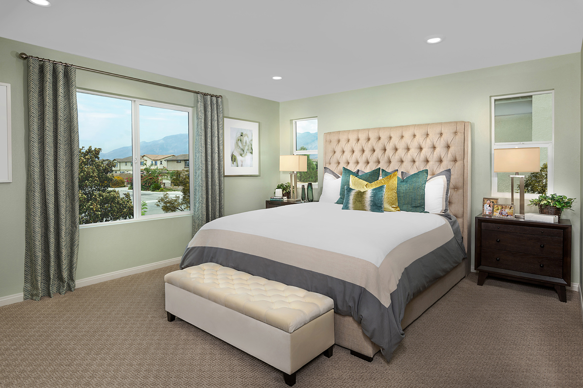 New Homes in North Fontana, CA - The Courts at El Paseo Residence Two - Master Bedroom