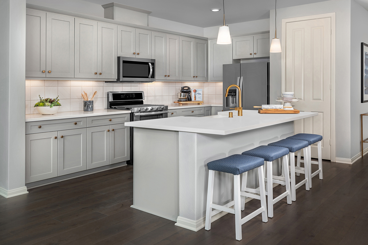New Homes in North Fontana, CA - The Courts at El Paseo Residence Three - Kitchen