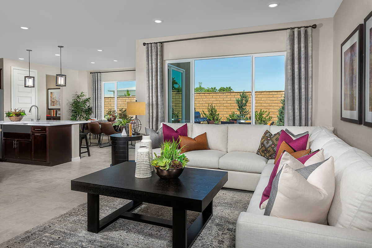 New Homes in North Fontana, CA - The Courts at El Paseo Residence Five - Great Room