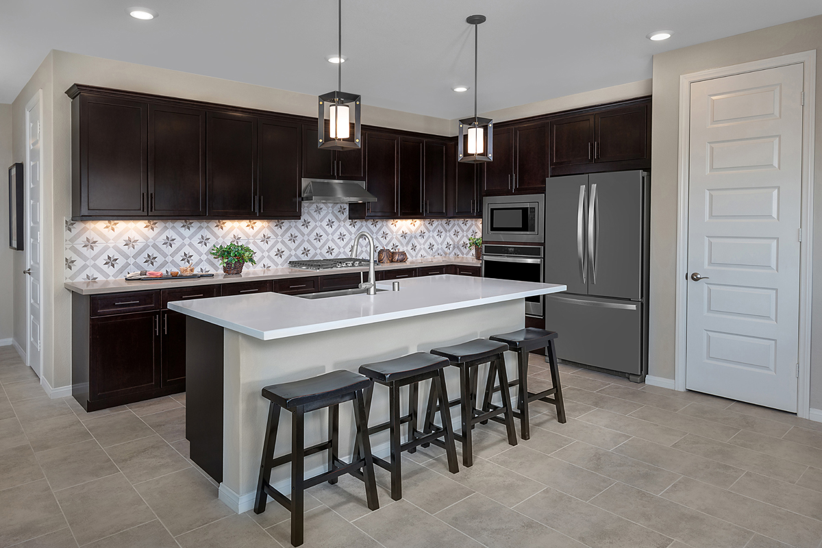 New Homes in North Fontana, CA - The Courts at El Paseo Residence Five - Kitchen