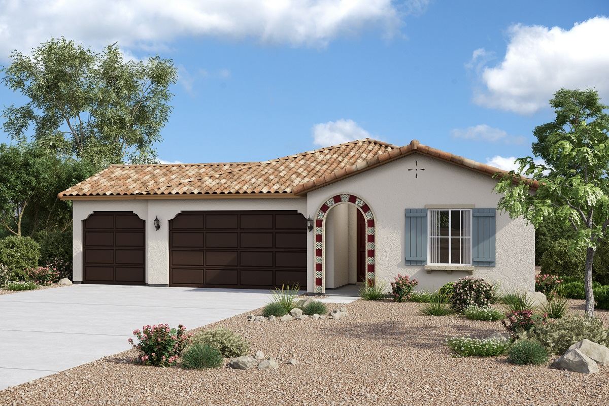 New Homes in Redlands, CA - Elevation A with optional 3-car garage