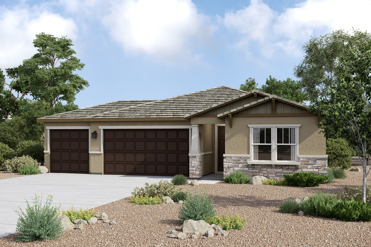New Homes in Redlands, CA - Elevation C with optional 3-car garage
