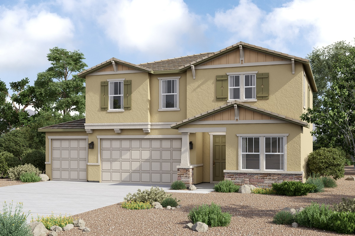 New Homes in Redlands, CA - Craftsman 'C' 3-Car Enlarged