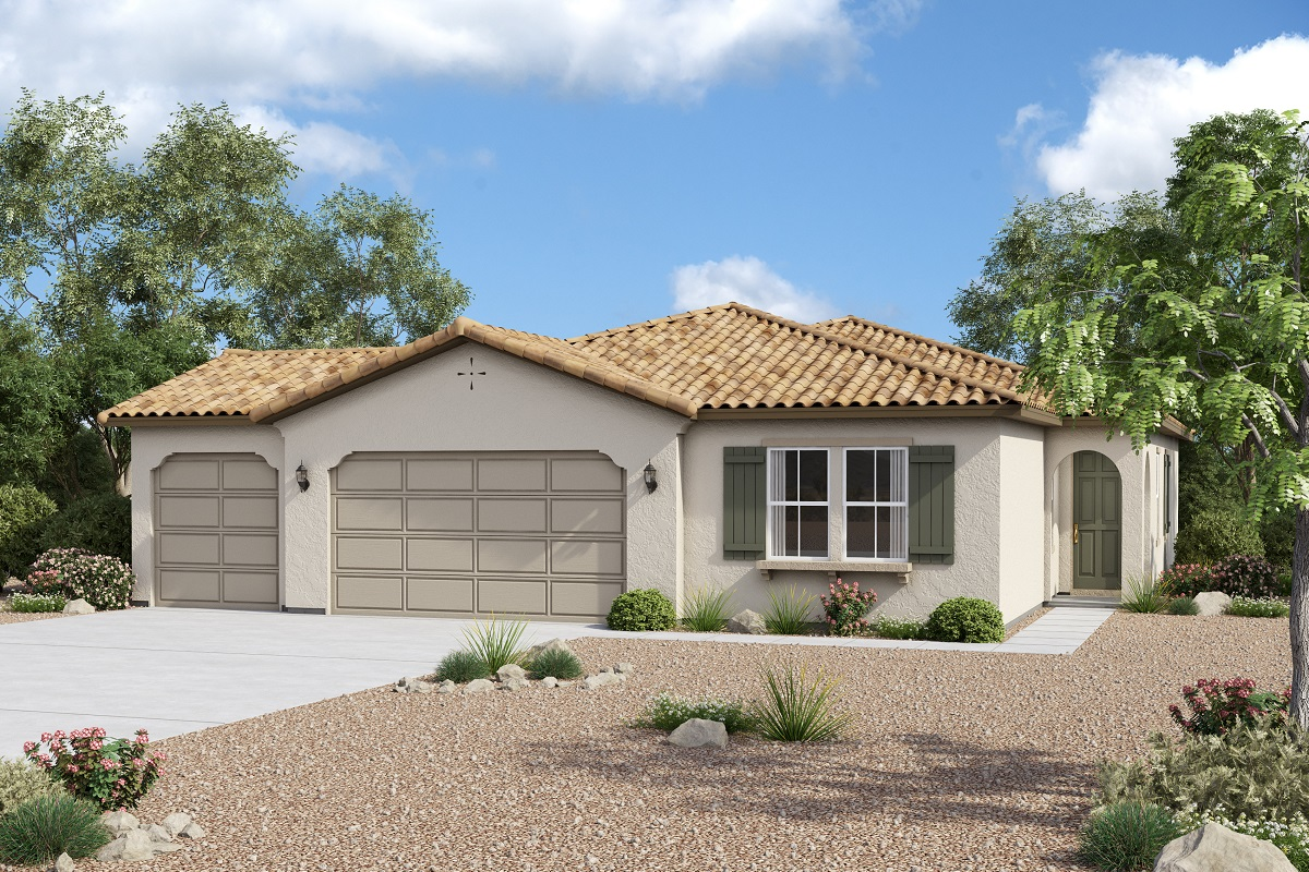 New Homes in Redlands, CA - Spanish 'A' 3-Car Garage