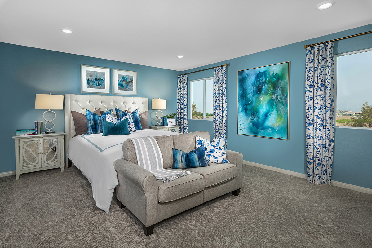 New Homes in Redlands, CA - The Meadows Residence 2227 - Master Bedroom