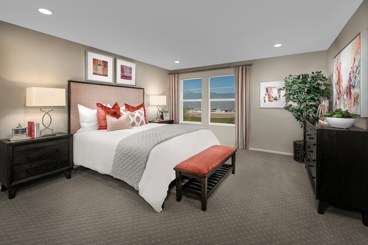 New Homes in North Fontana, CA - The Towns at El Paseo Residence One - Master Bedroom