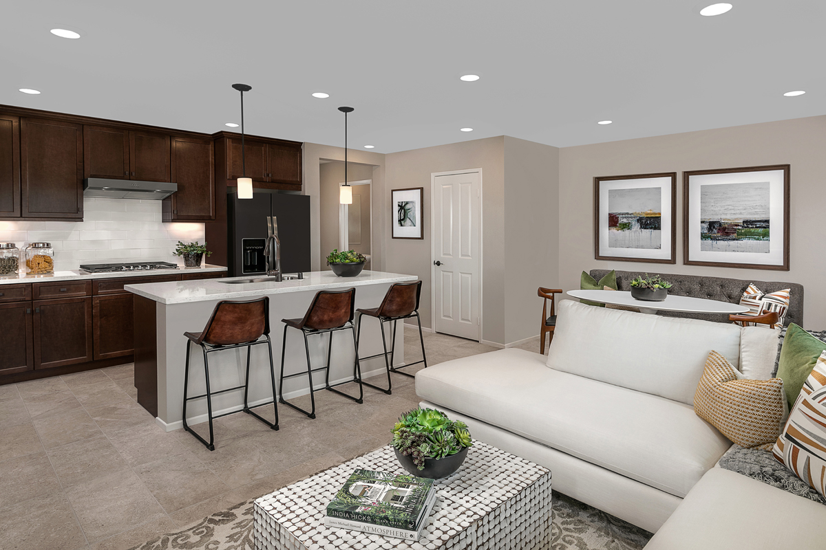 New Homes in North Fontana, CA - The Towns at El Paseo Residence Two - Great Room