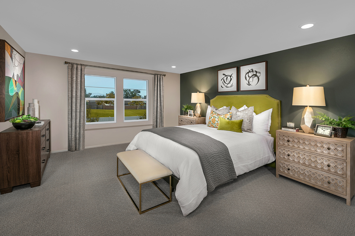 New Homes in North Fontana, CA - The Towns at El Paseo Residence Two - Master Bedroom