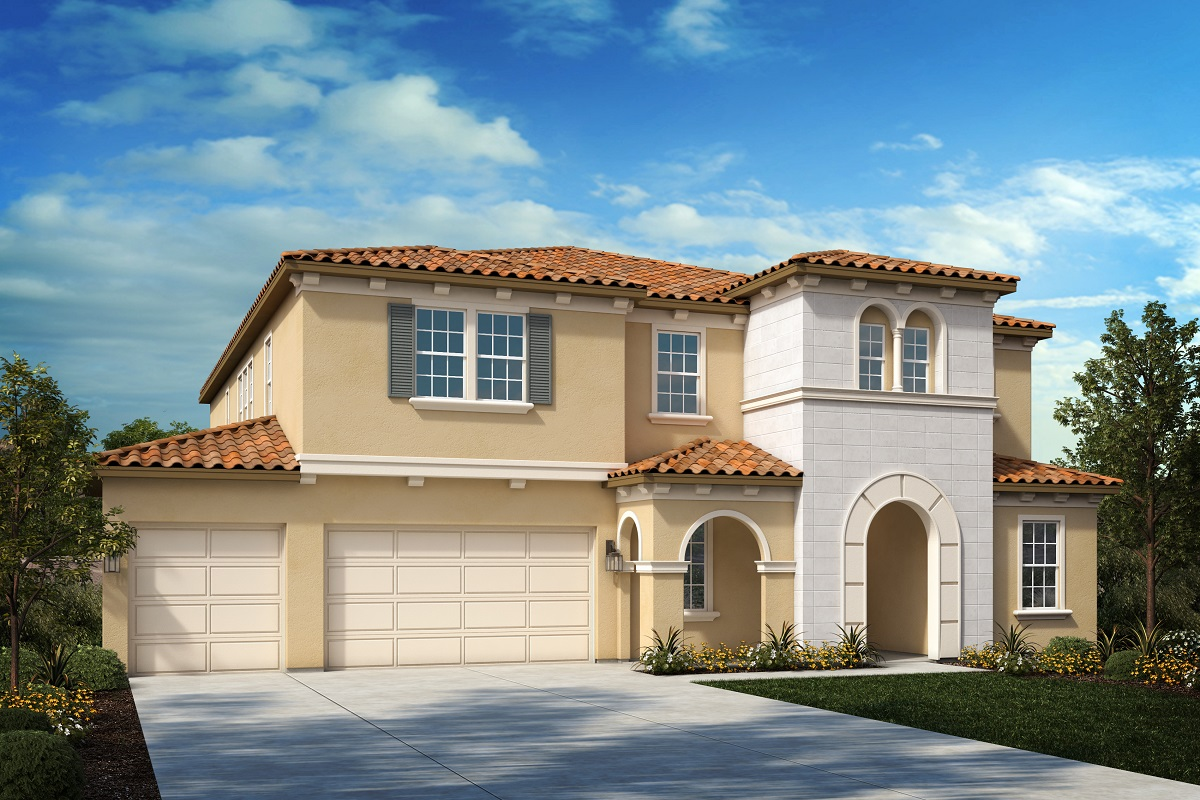 New Homes in Riverside, CA - Italianate 'B' - Opt. Enlarged Garage