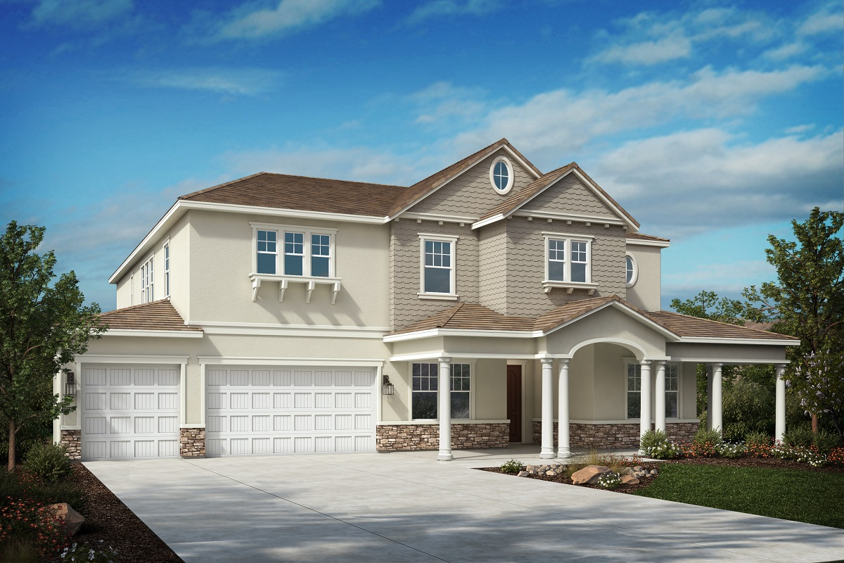 New Homes in Riverside, CA - Cape Cod 'E' - Opt. Enlarged Garage