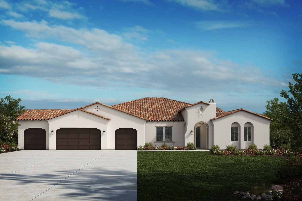 New Homes in Riverside, CA - Spanish 'A' - Opt. Enlarged Garage