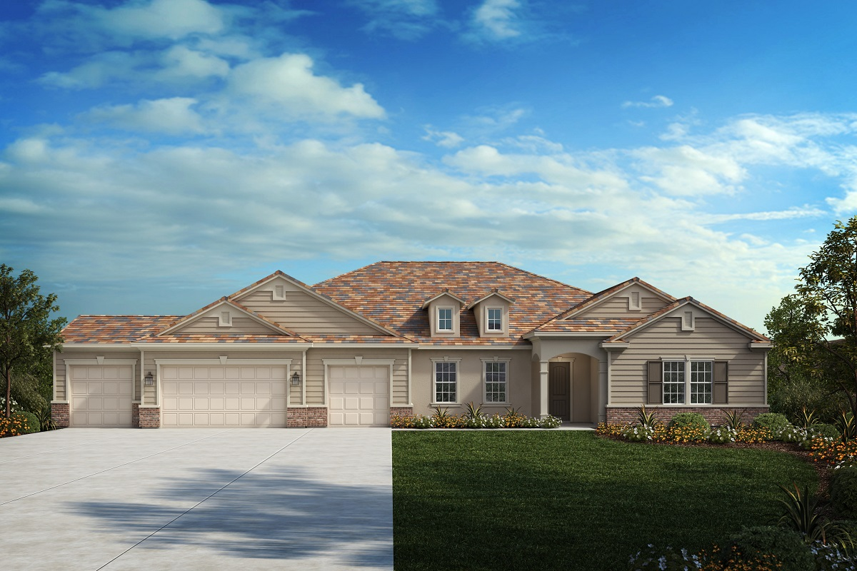 New Homes in Riverside, CA - Traditional 'C' - Opt. Enlarged Garage
