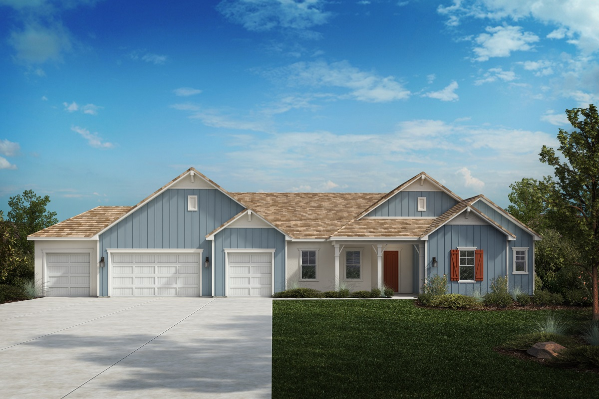 New Homes in Riverside, CA - Farmhouse 'D' - Opt. Enlarged Garage
