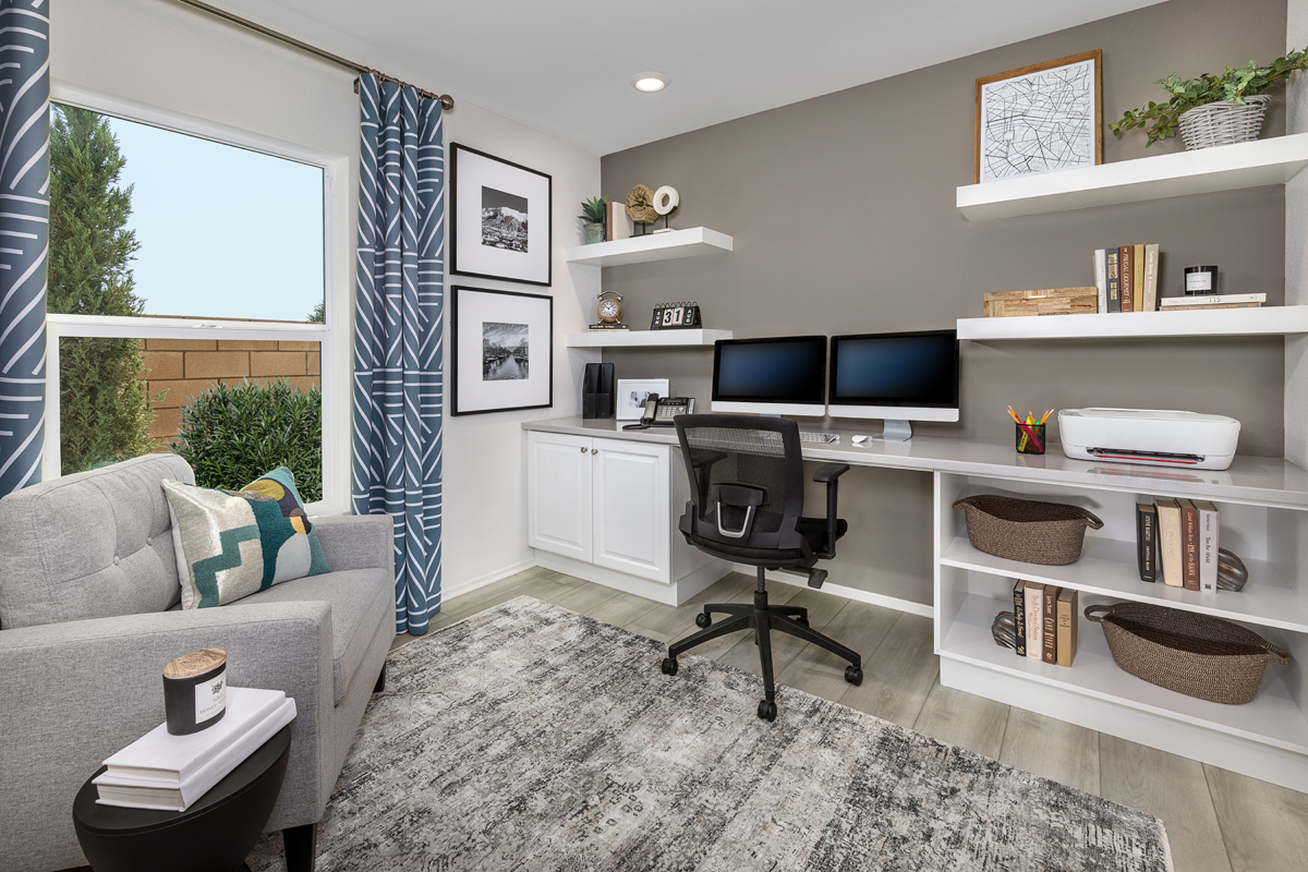 New Homes in Victorville, CA - Whispering Creek Plan 1779 - Home Office