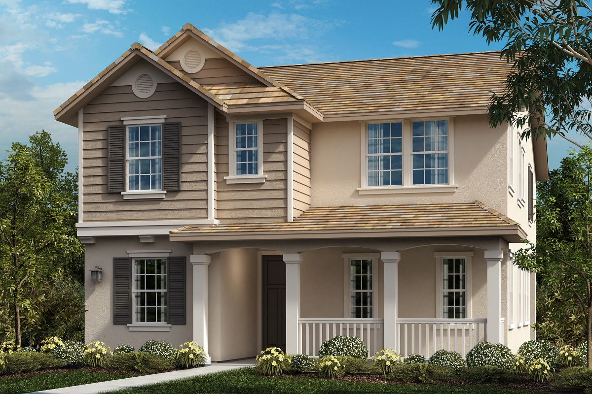 New Homes in Ontario Ranch, CA - American Traditional 'D'