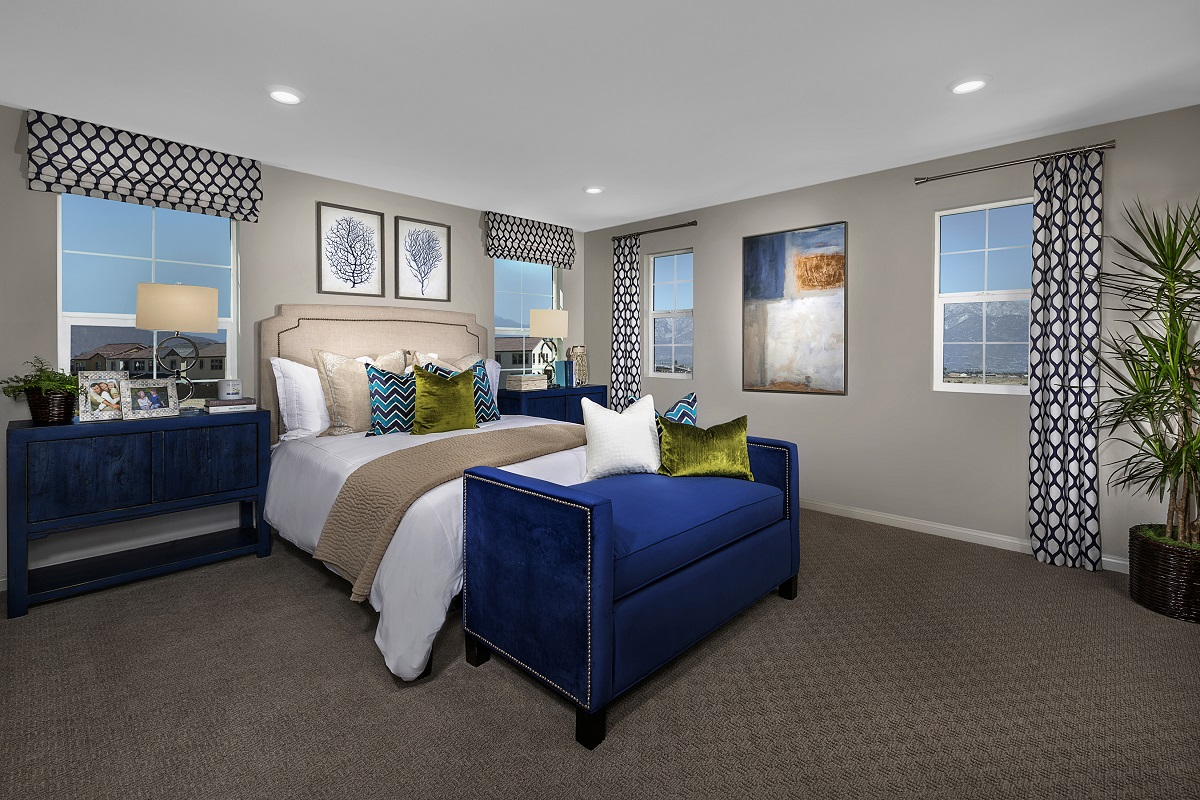 New Homes in Ontario Ranch, CA - Willowmore at Park Place Residence 2479 - Master Bedroom