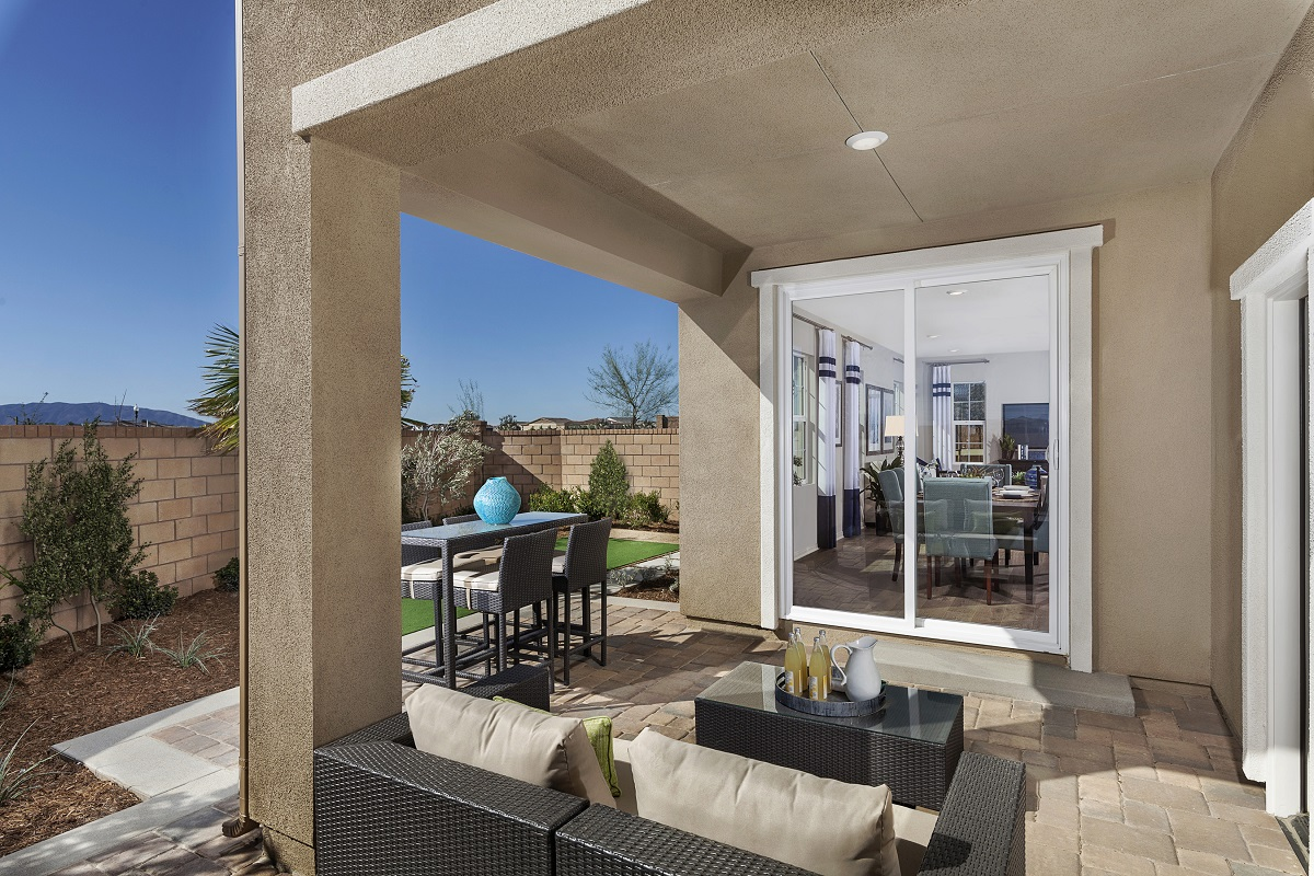 New Homes in Ontario Ranch, CA - Willowmore at Park Place Residence 2479 - Patio