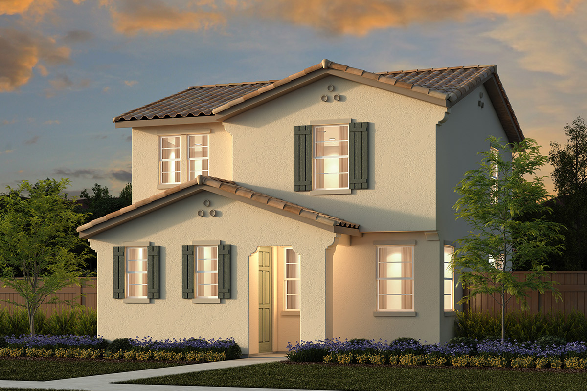 New Homes in Sacramento, CA - Bridgewater Plan 1744 Elevation C