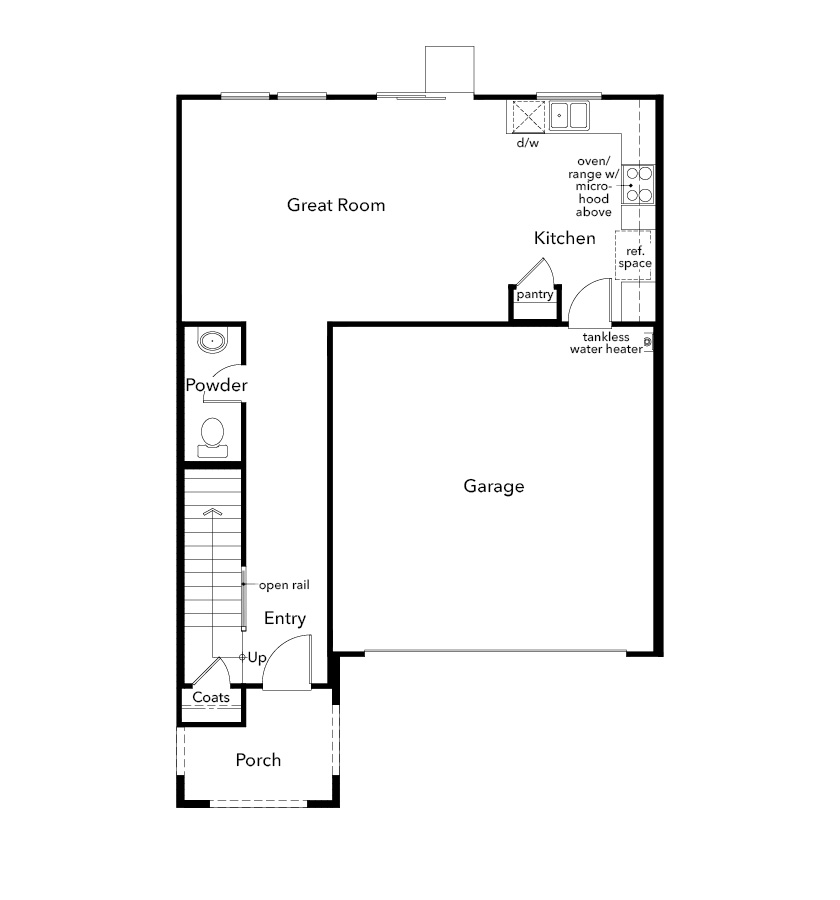 New Homes in Sacramento, CA - Plan 1636, First Floor